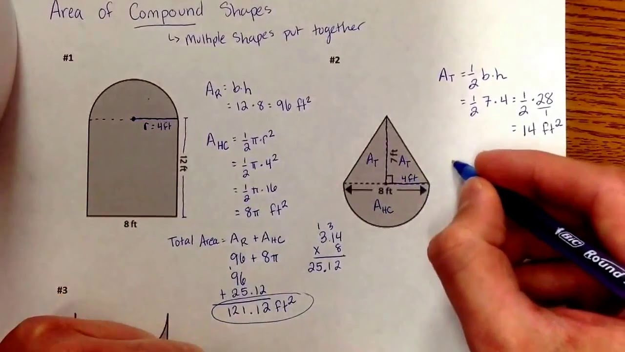 Math Aids Compound Shapes Getting Into Shapes Worksheet Answers Worksheet List