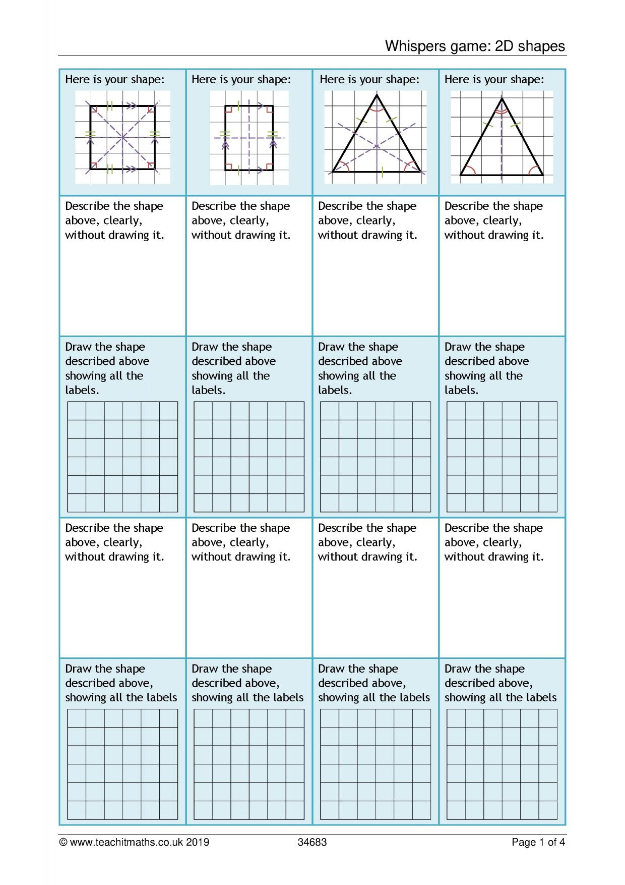 Math Aids Compound Shapes Ks3