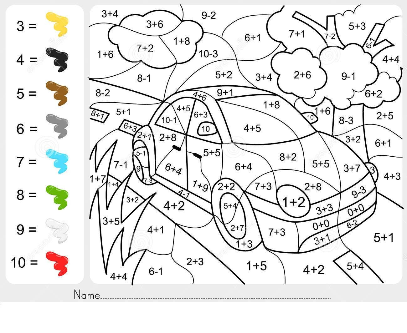 Math Coloring Pages 2nd Grade Addition and Subtraction Coloring Worksheets for 2nd Grade
