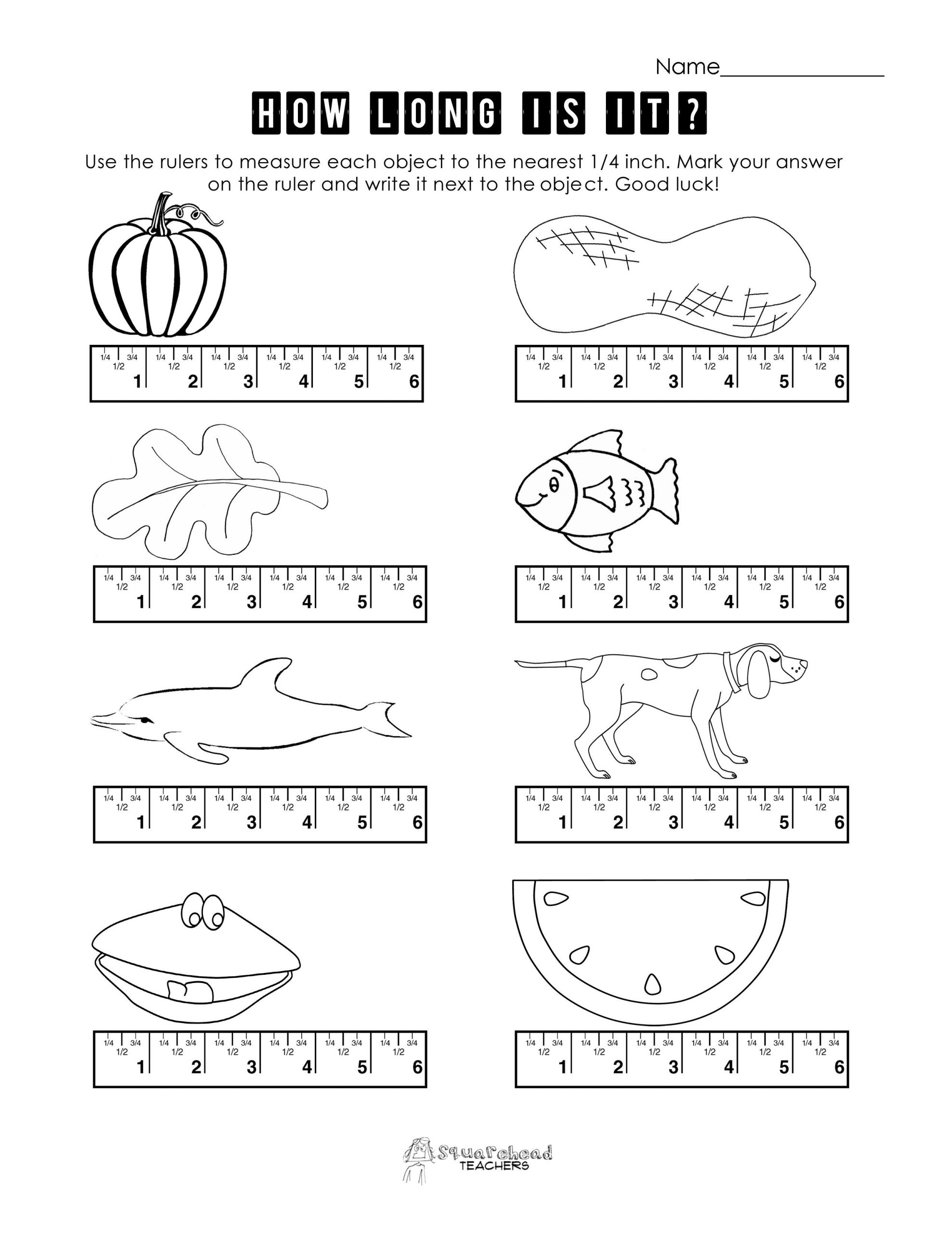 Measuring Worksheets for 2nd Grade Ruler Measuring Worksheets Google Search