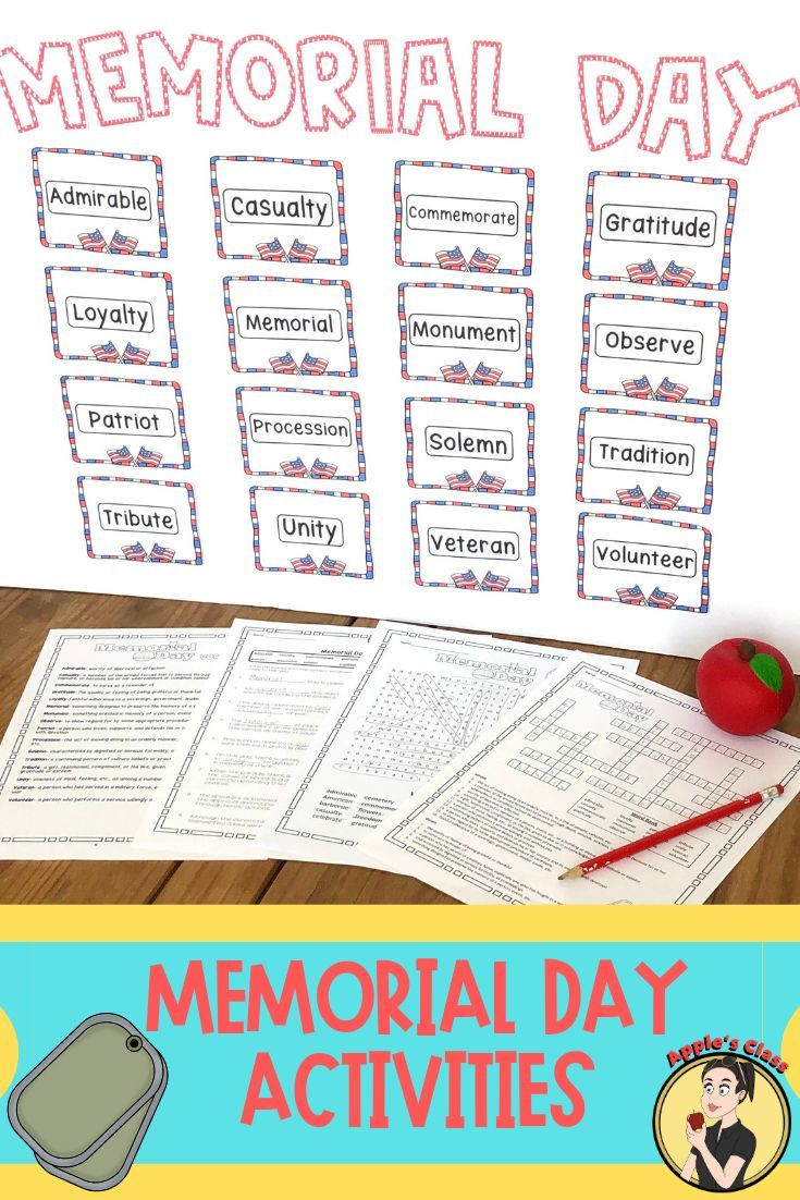Memorial Day Worksheets First Grade Memorial Day Worksheet Activities
