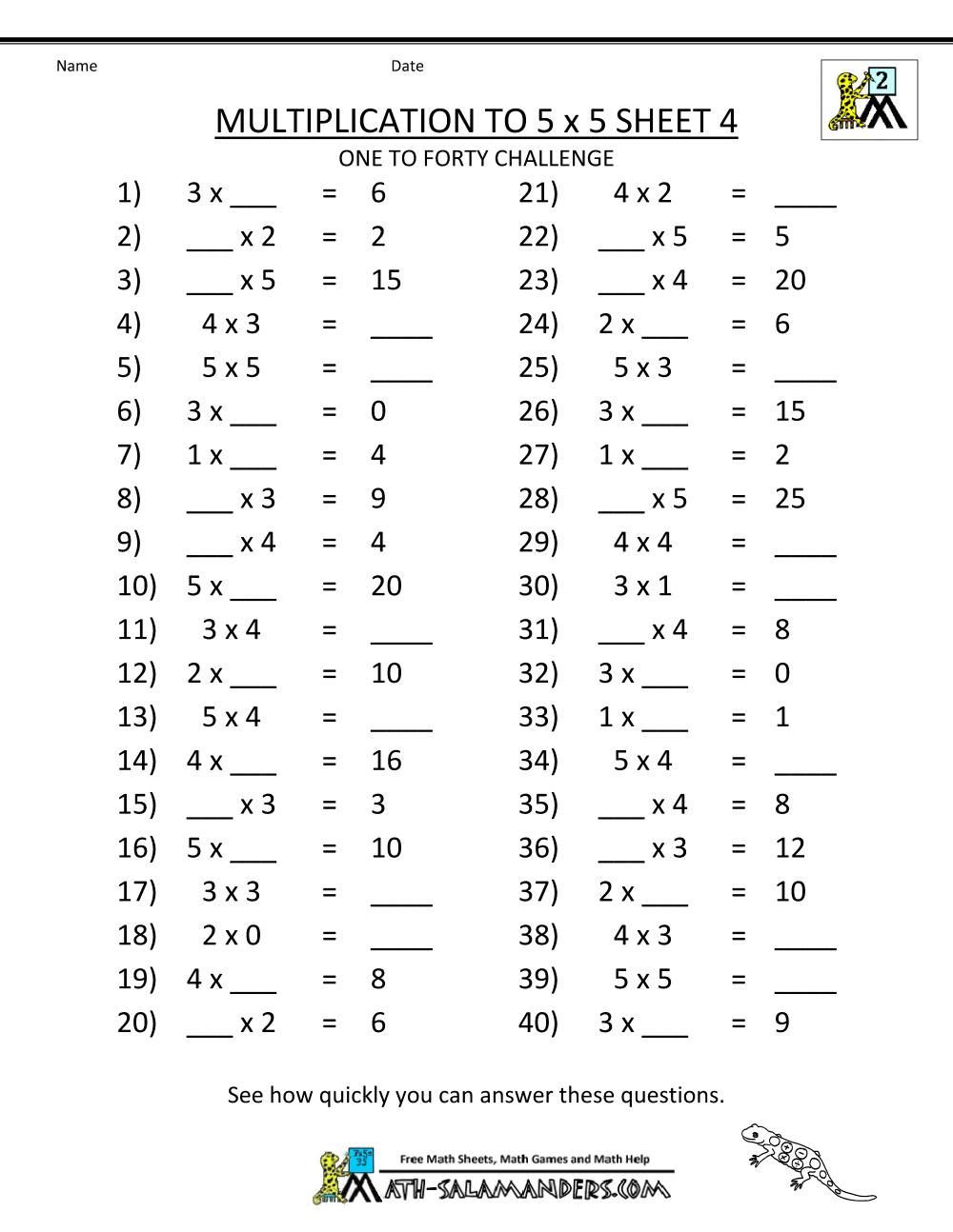 Mental Math Multiplication Worksheets Multiplication Worksheets Grade 3