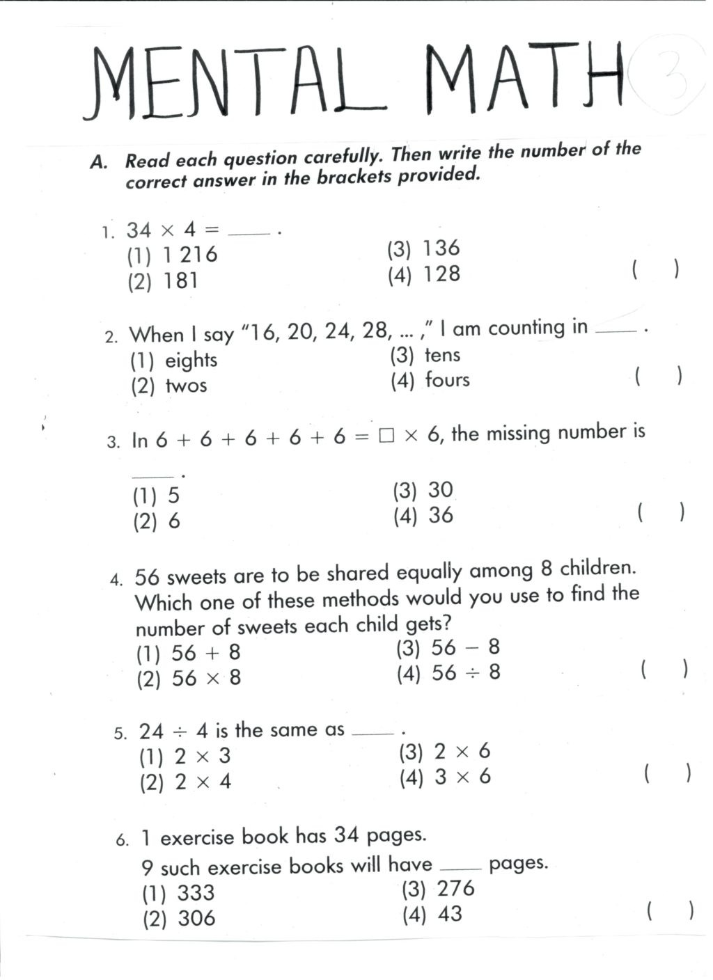 Mental Math Multiplication Worksheets Worksheet Marvelous Mental Math Worksheets Grade