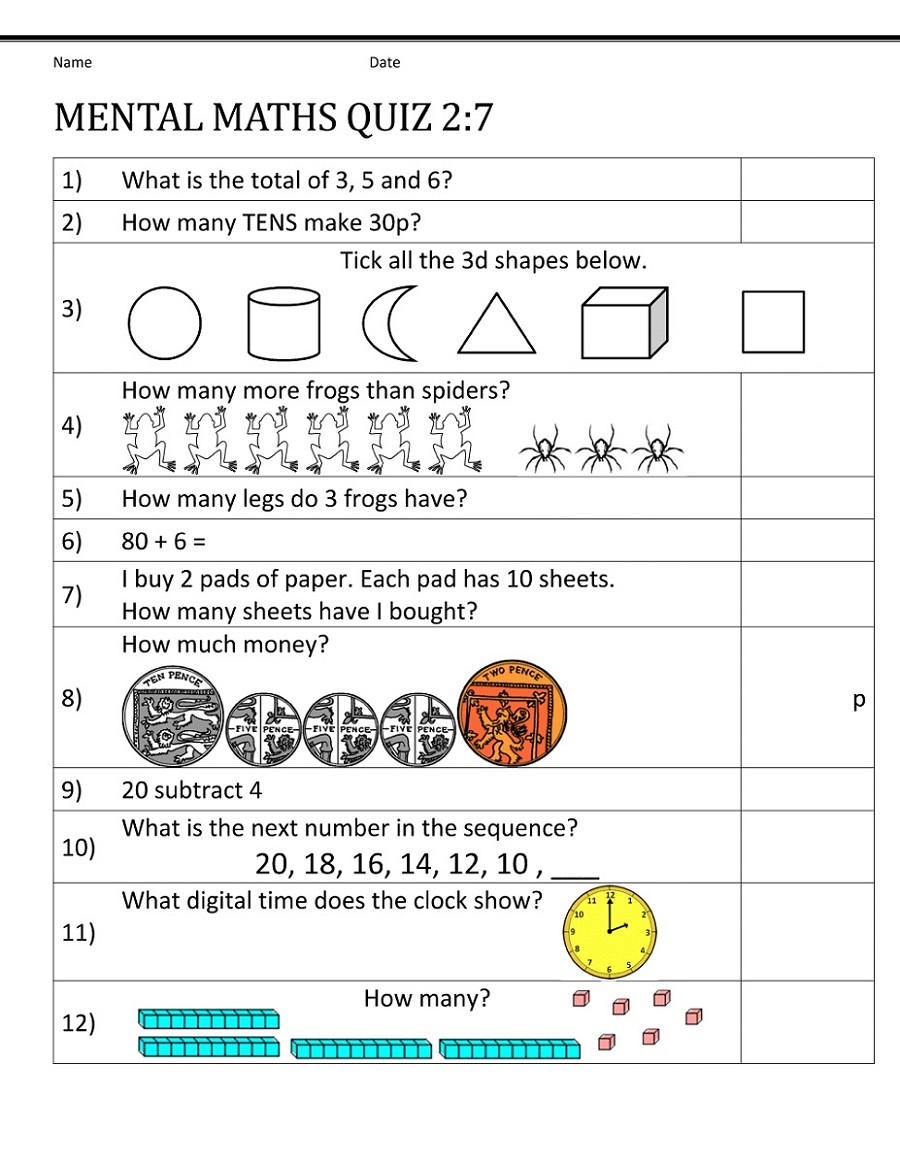 Mental Math Worksheets Grade 3 Math Worksheet Year Maths Worksheets Mental Math Worksheet