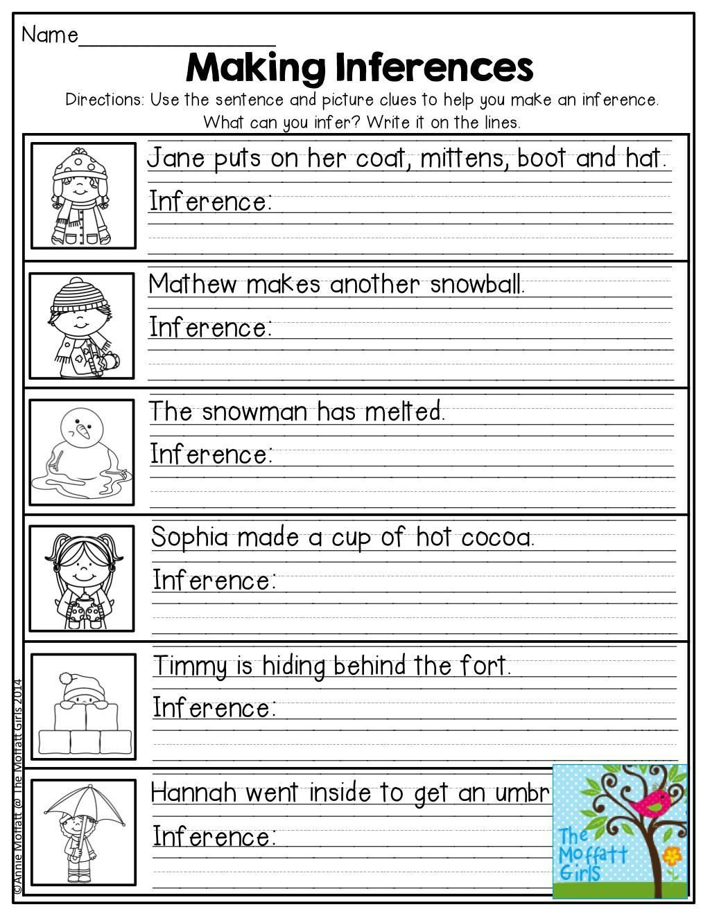 Middle School Inference Worksheets Worksheet Free First Grade Phonics Worksheets Worksheet