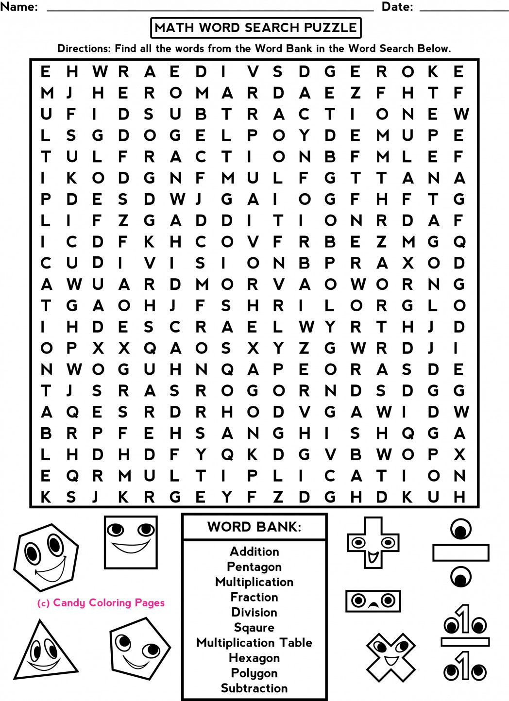 Middle School Math Puzzles Printable Pin On Math Worksheets