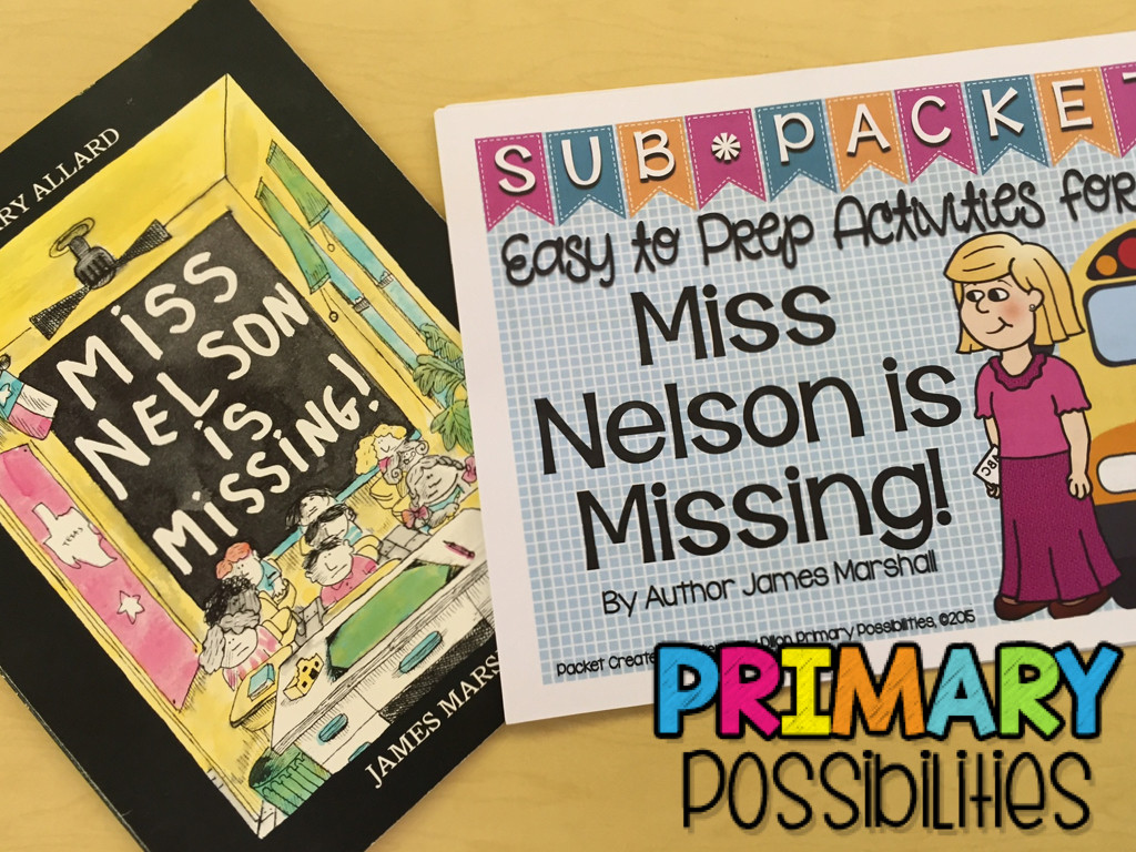Miss Nelson is Missing Printables Miss Nelson is Missing Worksheets
