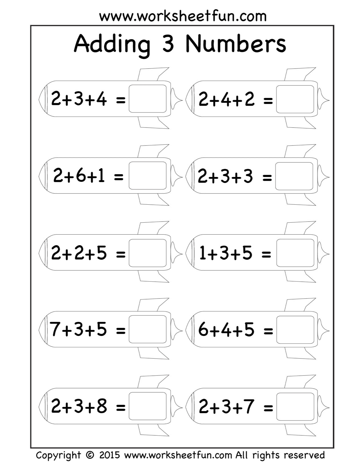 Missing Addends Worksheets 1st Grade 5 Free Math Worksheets First Grade 1 Addition Add 2 Digit 1