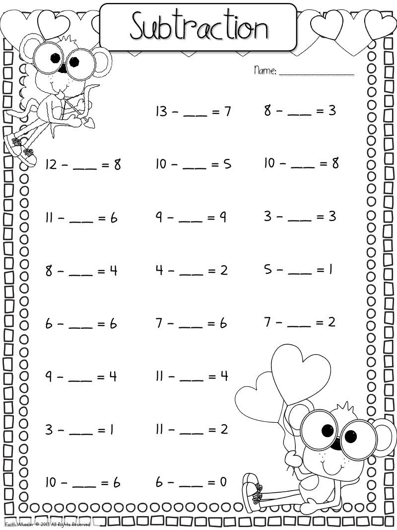 Missing Addends Worksheets 1st Grade Find the Missing Addend Worksheet Download