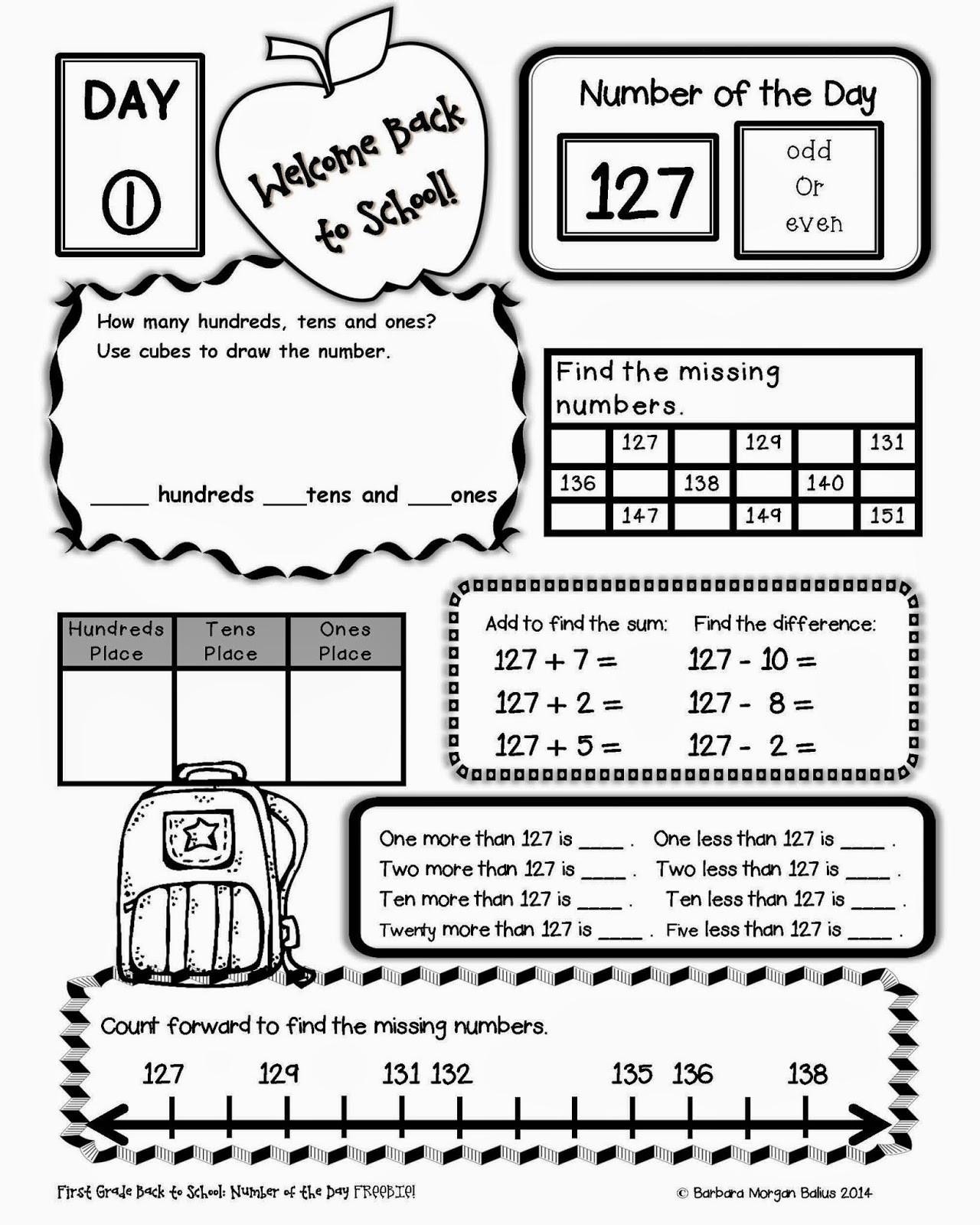 Missing Number Worksheets 2nd Grade Back to School Worksheets 2nd Grade for Printable Back to