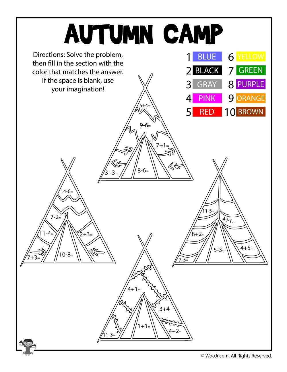 Native American Math Worksheets Native Americans Thanksgiving Math Coloring Page