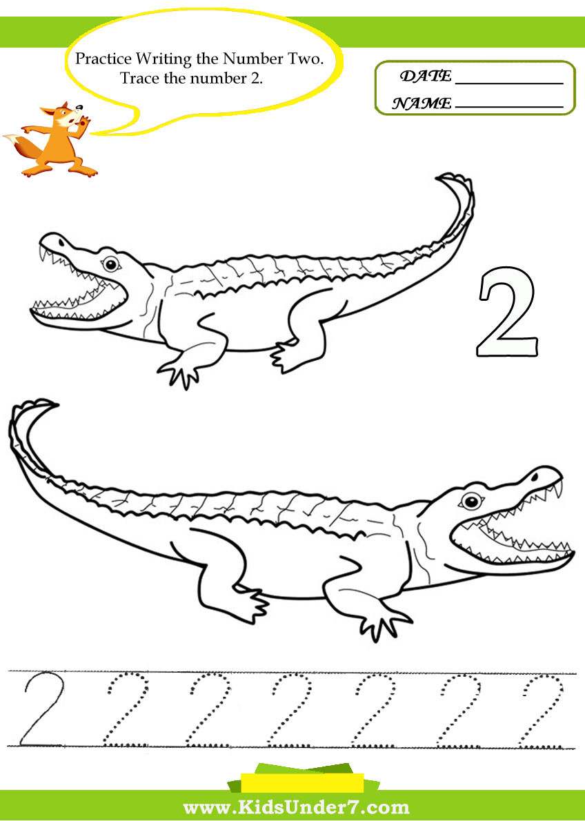 Number 2 Worksheets for Preschool Kids Under 7 Number Tracing 1 10 – Worksheet Part 2