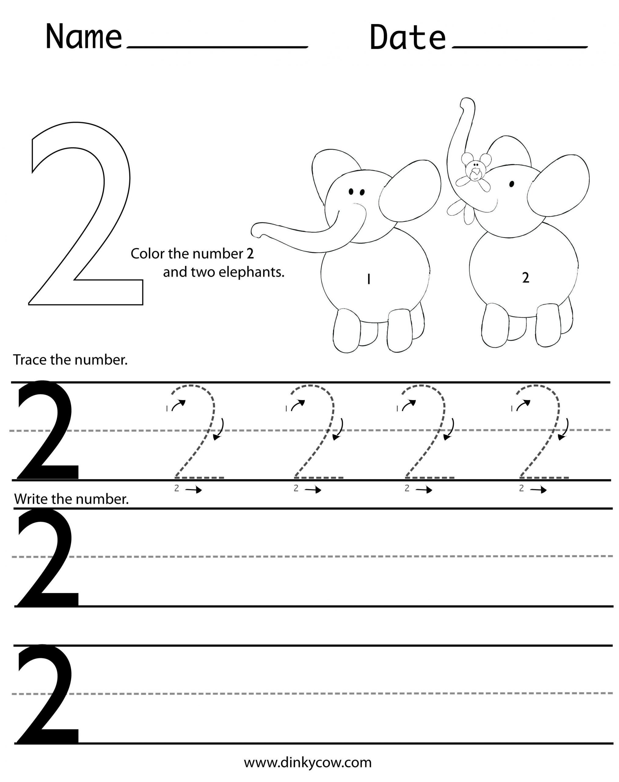 Number 2 Worksheets for Preschool Writing Number 2 2366—2988