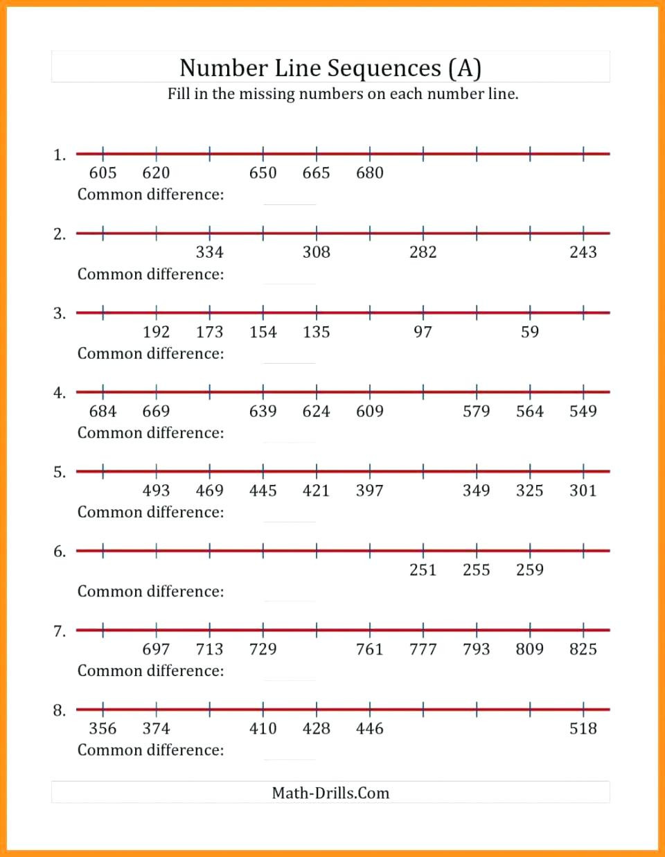 Number Lines Worksheets 3rd Grade 3rd Grade Number Line Download Free Educational Worksheets