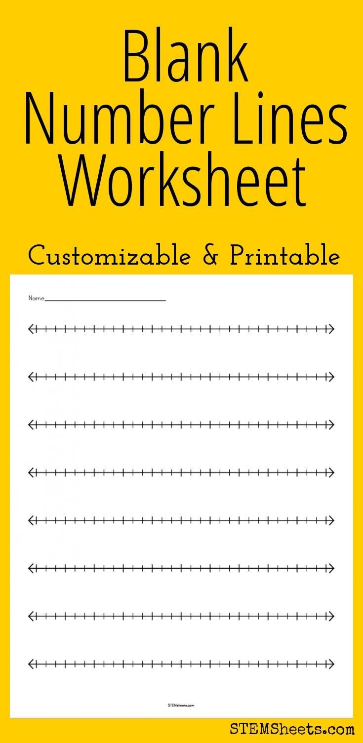Number Lines Worksheets 3rd Grade Blank Number Lines Worksheet