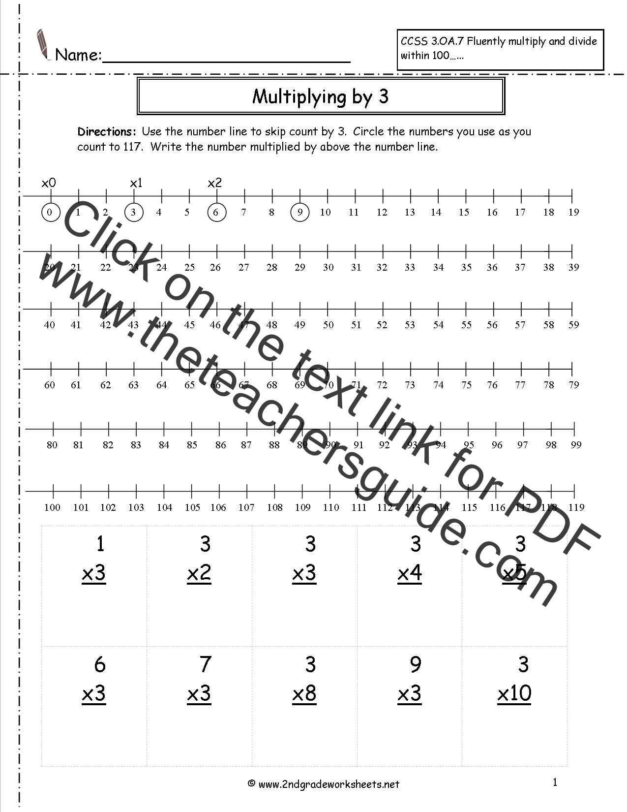 Number Lines Worksheets 3rd Grade Multiplication Worksheets and Printouts On Worksheets Ideas 2200