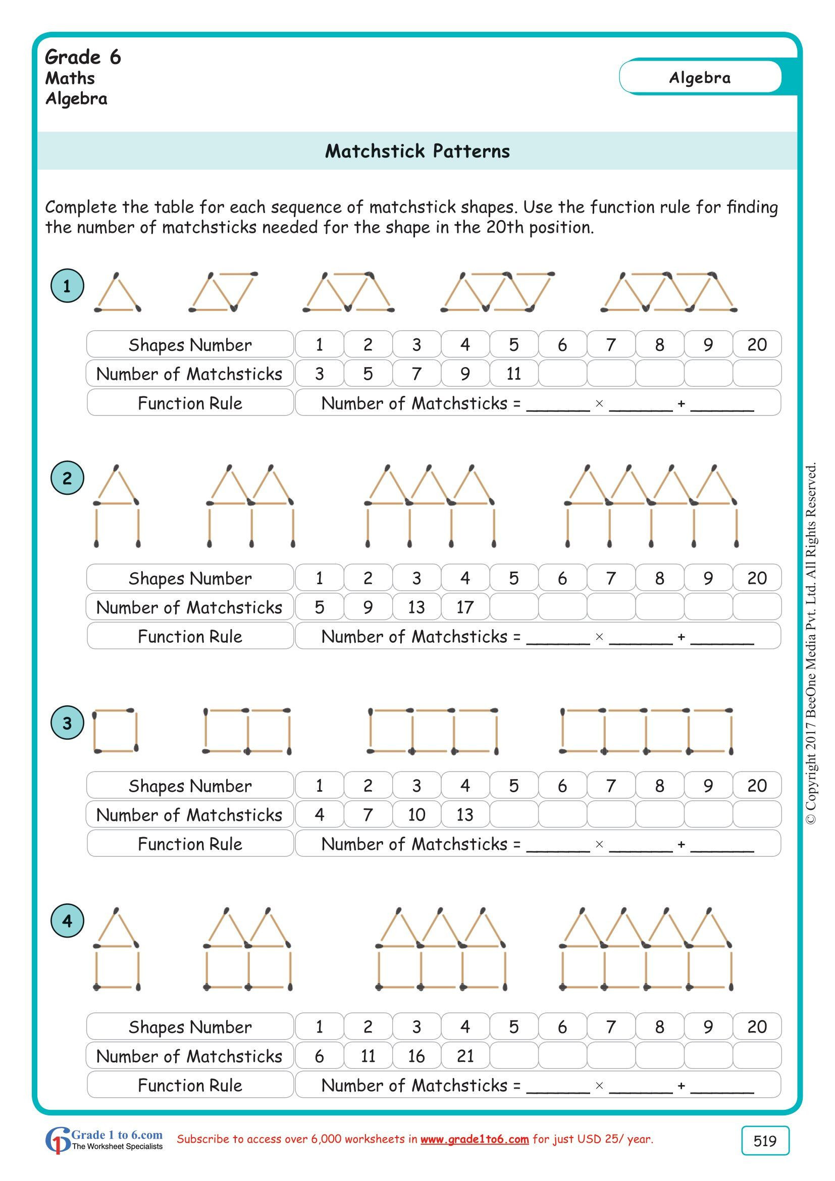 Number Patterns Worksheets Grade 6 Pin On Educacion Matematicas