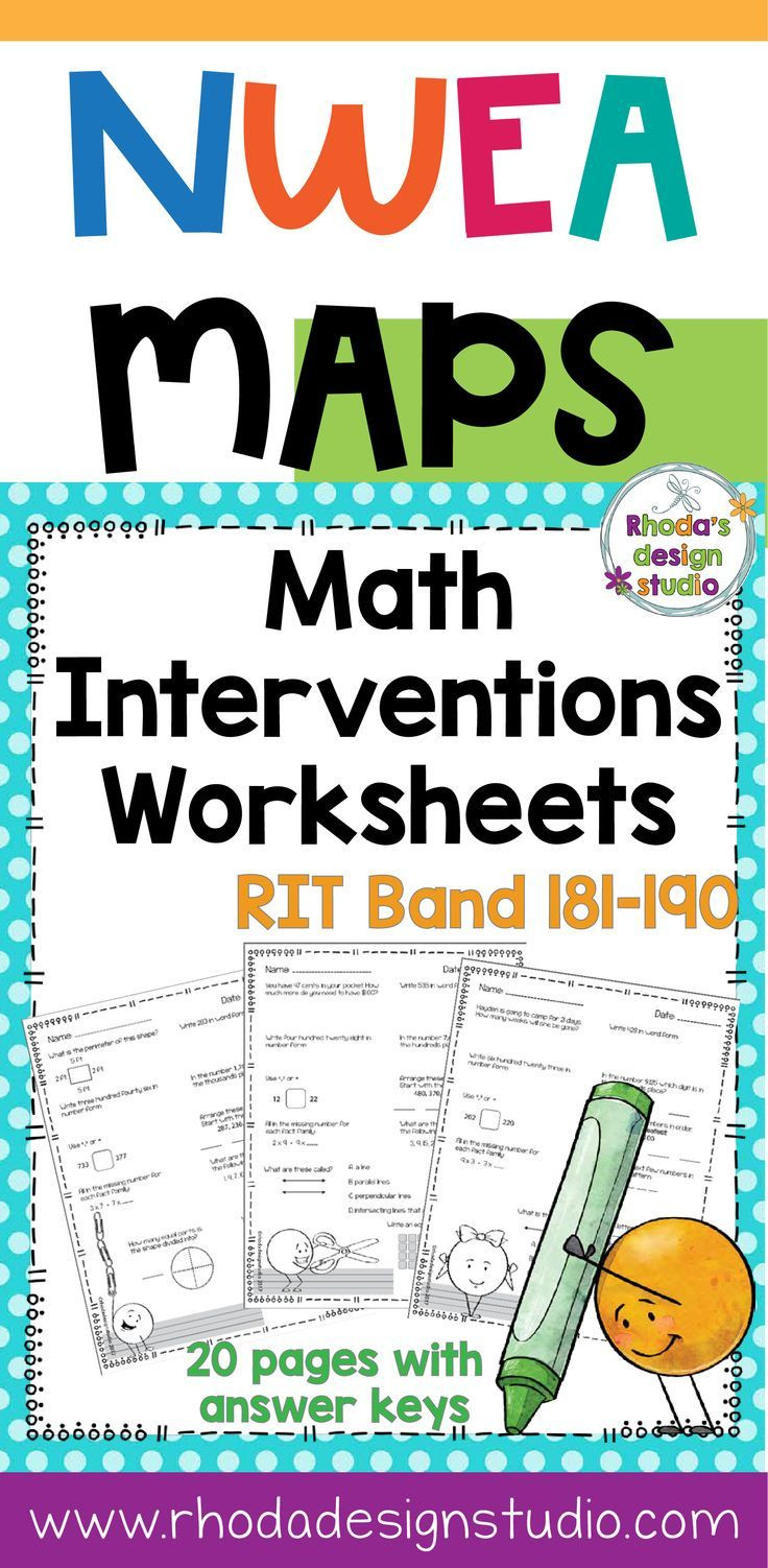 Nwea Math Practice Worksheets Nwea Map Prep Math Practice Worksheets Rit Band 181 190