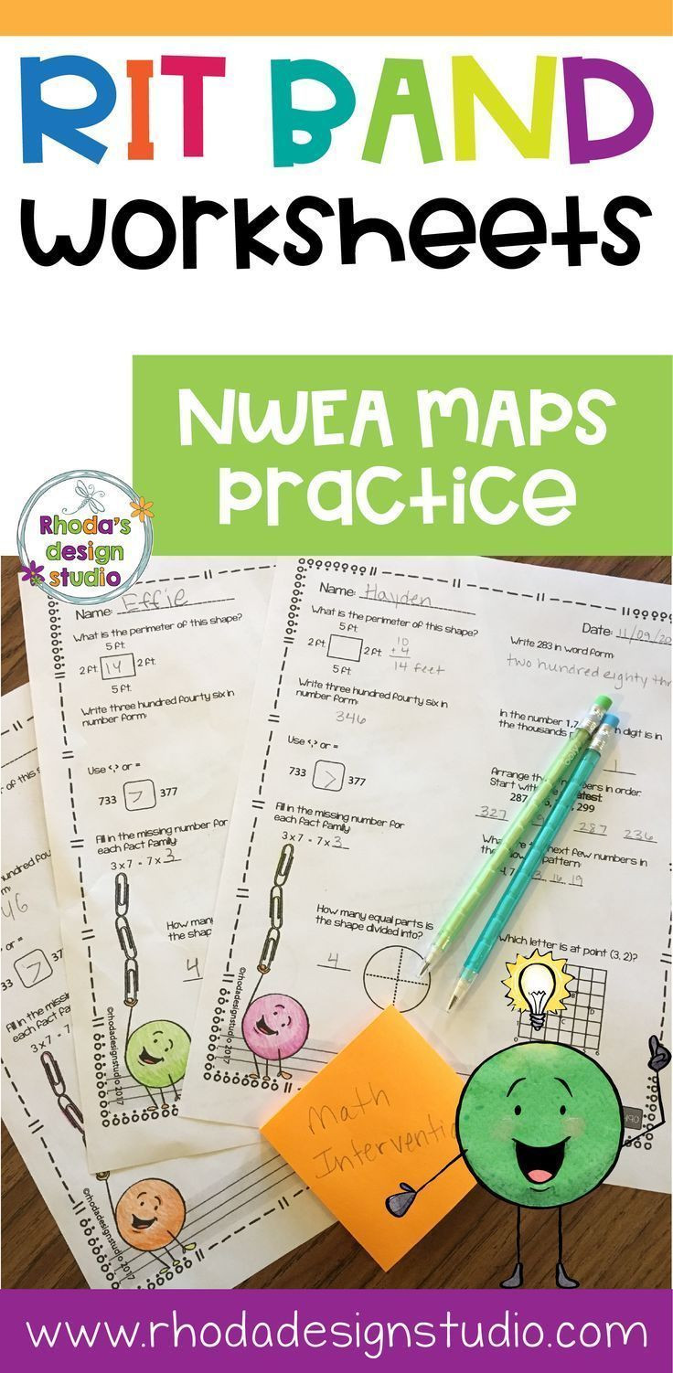 Nwea Math Practice Worksheets Nwea Map Prep Math Practice Worksheets Rit Band 191 200
