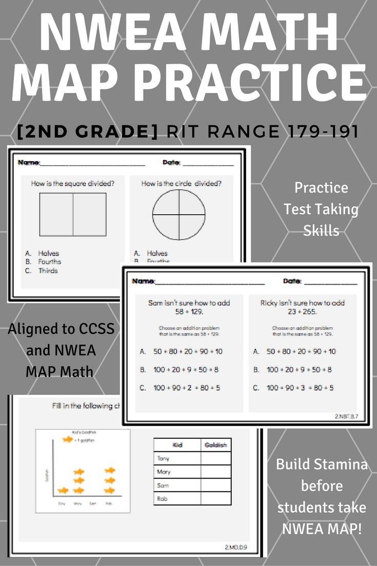 Nwea Math Practice Worksheets Worksheet 2ndrade Math Questions Excelent Nwea Map