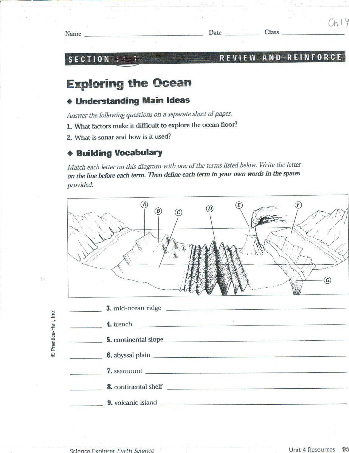 Ocean Floor Worksheets 5th Grade Pin On Educational Worksheets Template