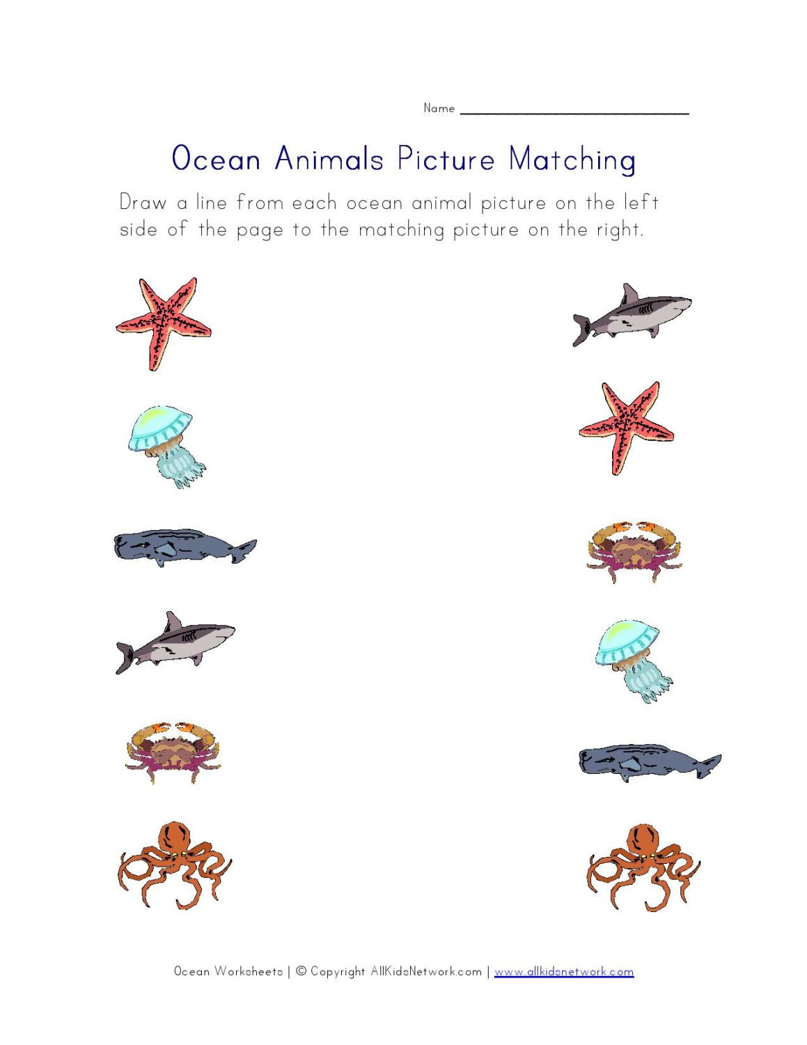 Ocean Worksheets for Preschool Activities and Worksheets for Preschoolers Pacific Beach