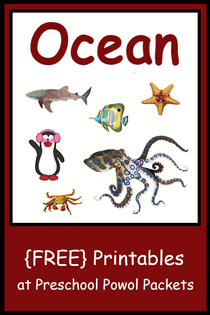 Ocean Worksheets for Preschool Free Preschool Ocean themed Printable Activities