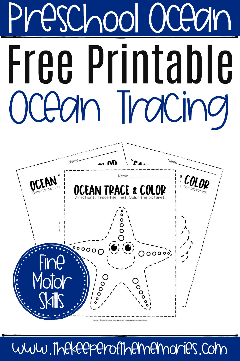 Ocean Worksheets for Preschool Free Printable Ocean Tracing Worksheets the Keeper Of the
