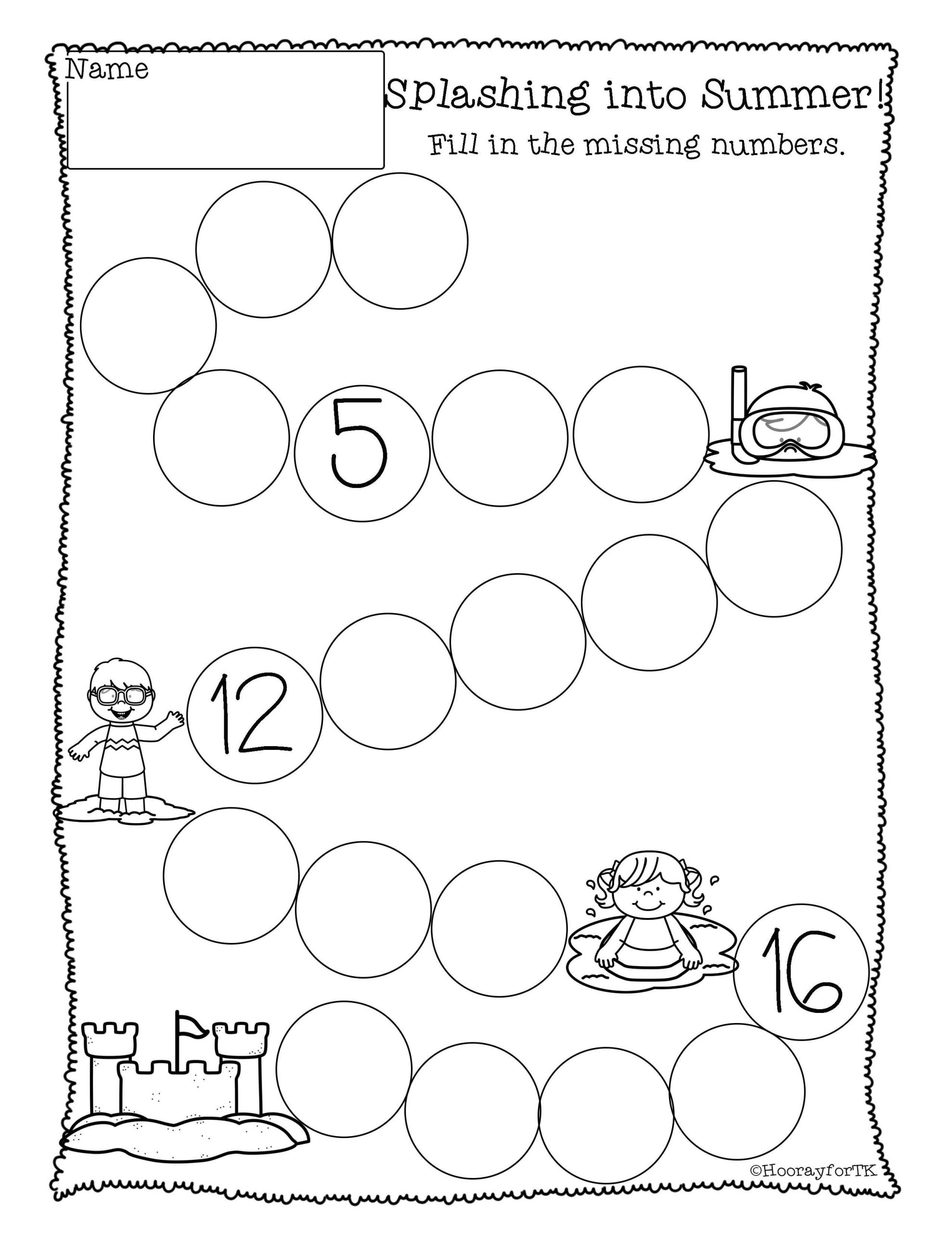 Ocean Worksheets for Preschool Printable Ocean Math Activities
