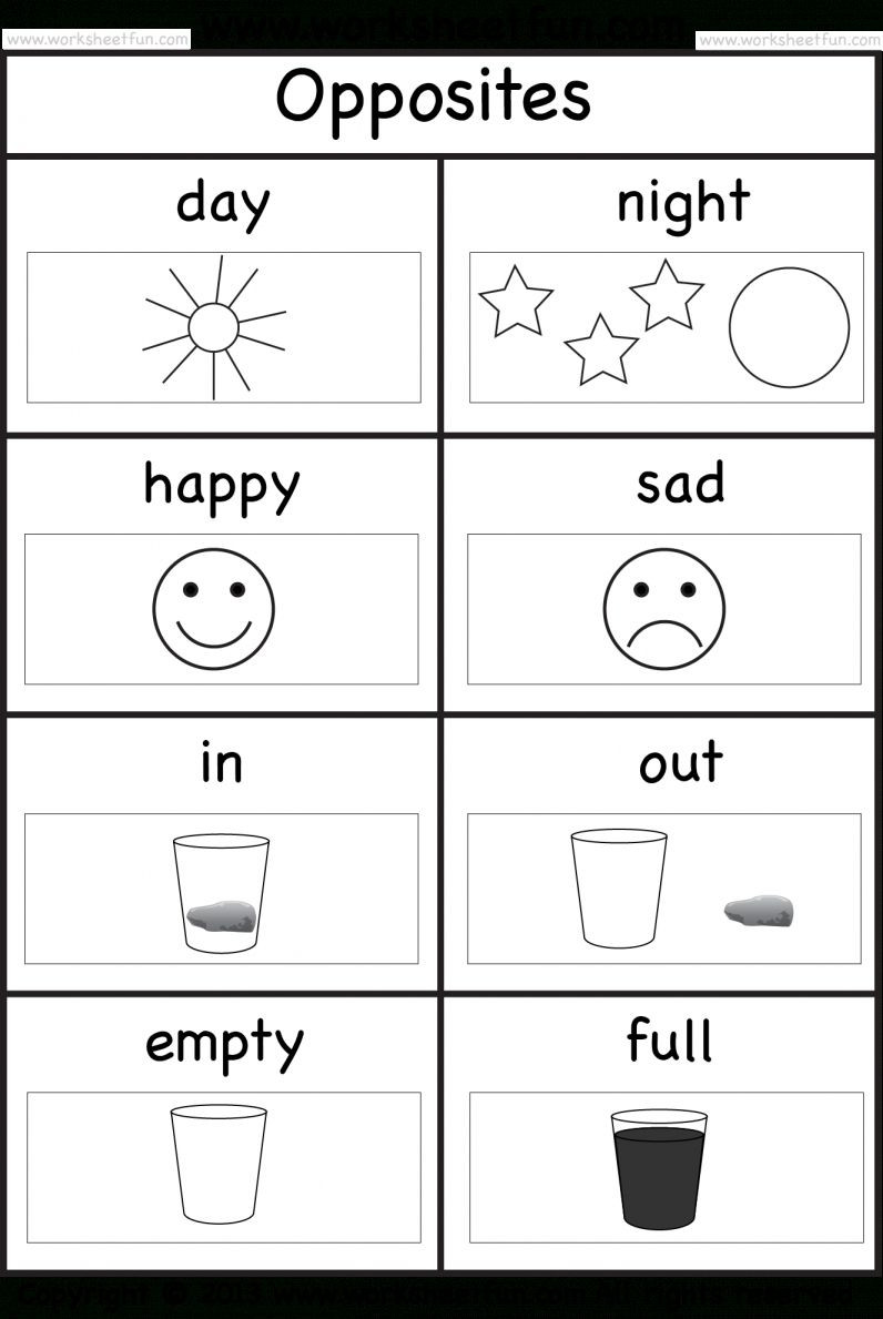 Opposites Worksheet for Preschool 9 Opposite Worksheet for Preschool Preschool