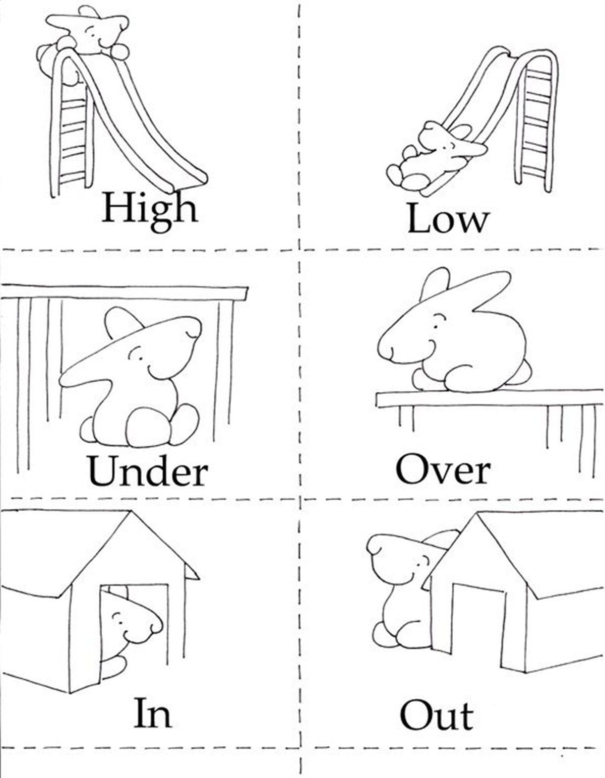 Opposites Worksheet for Preschool Mon Opposite Words In English