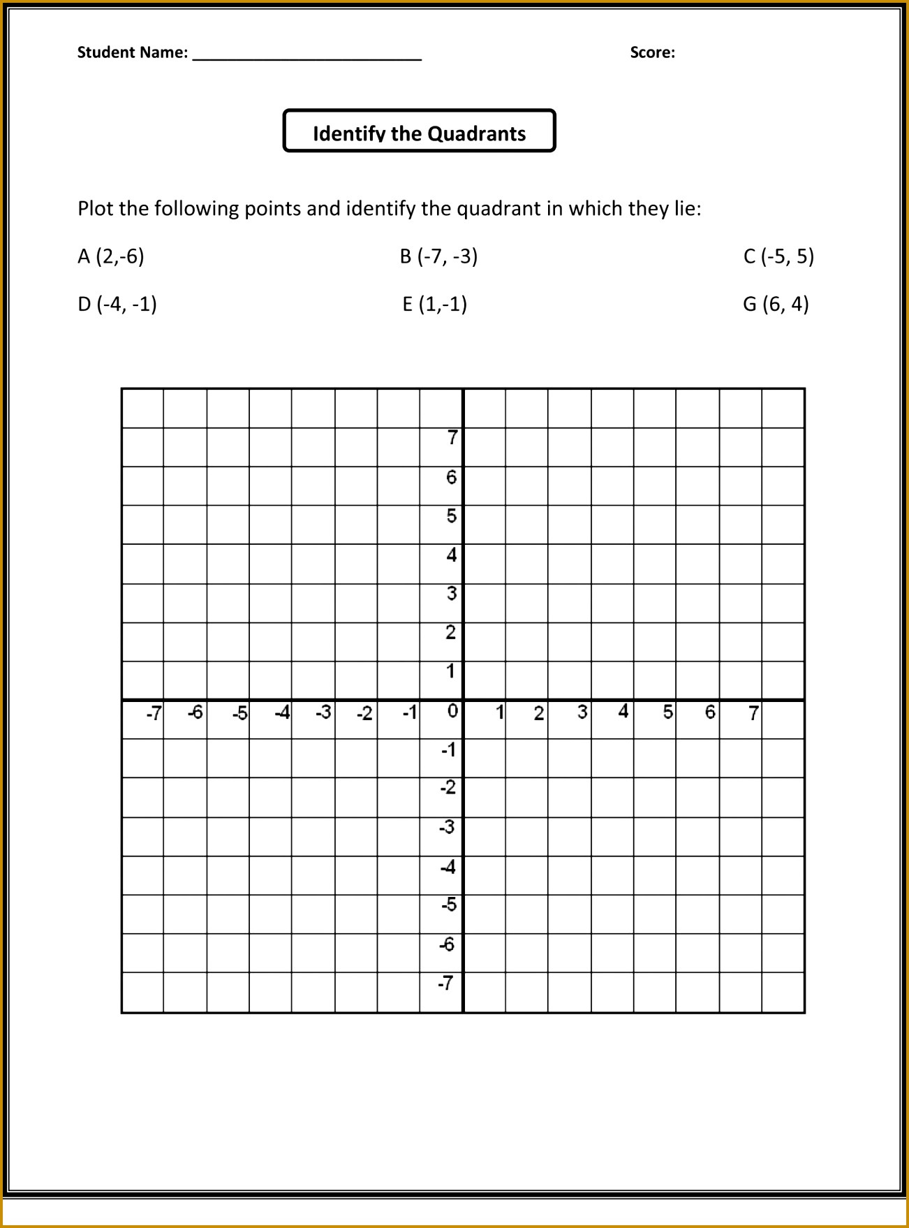 Ordered Pairs Worksheet 5th Grade Plotting Points Worksheet Activity