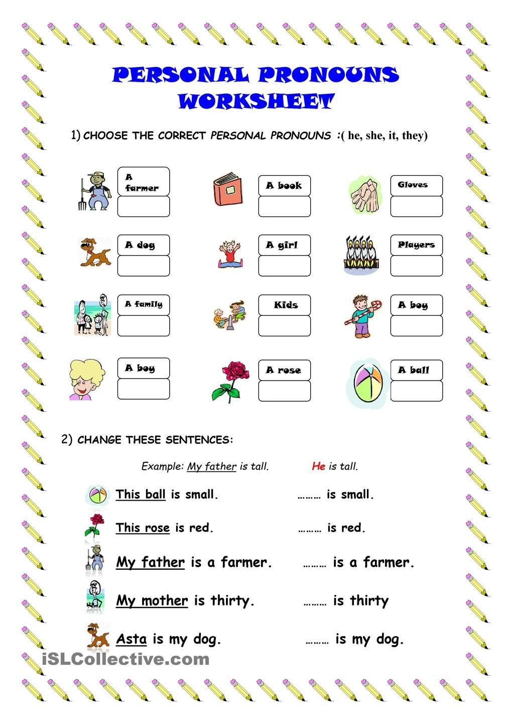 Ordering Decimals Worksheet 5th Grade Personal Pronouns Worksheet Worksheets Learning Christmas