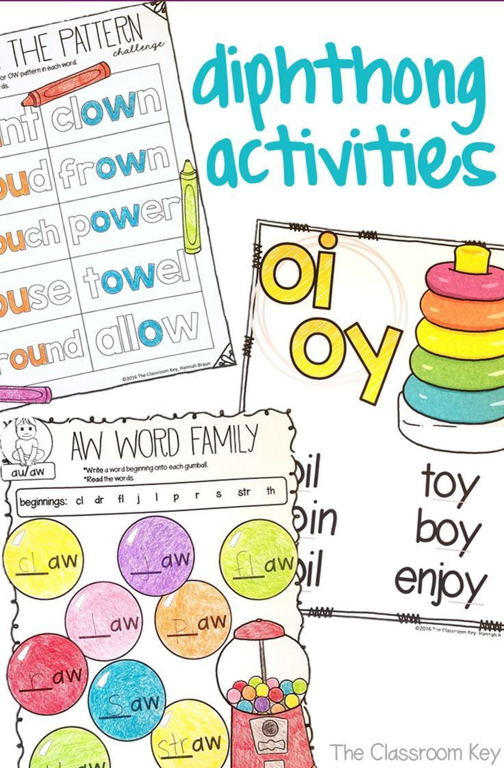 Ou Ow Worksheets 2nd Grade Diphthongs Worksheets and Activities