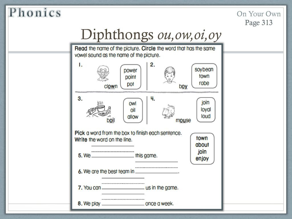 Ou Ow Worksheets 3rd Grade Unit 4 Week 3 soil Ppt