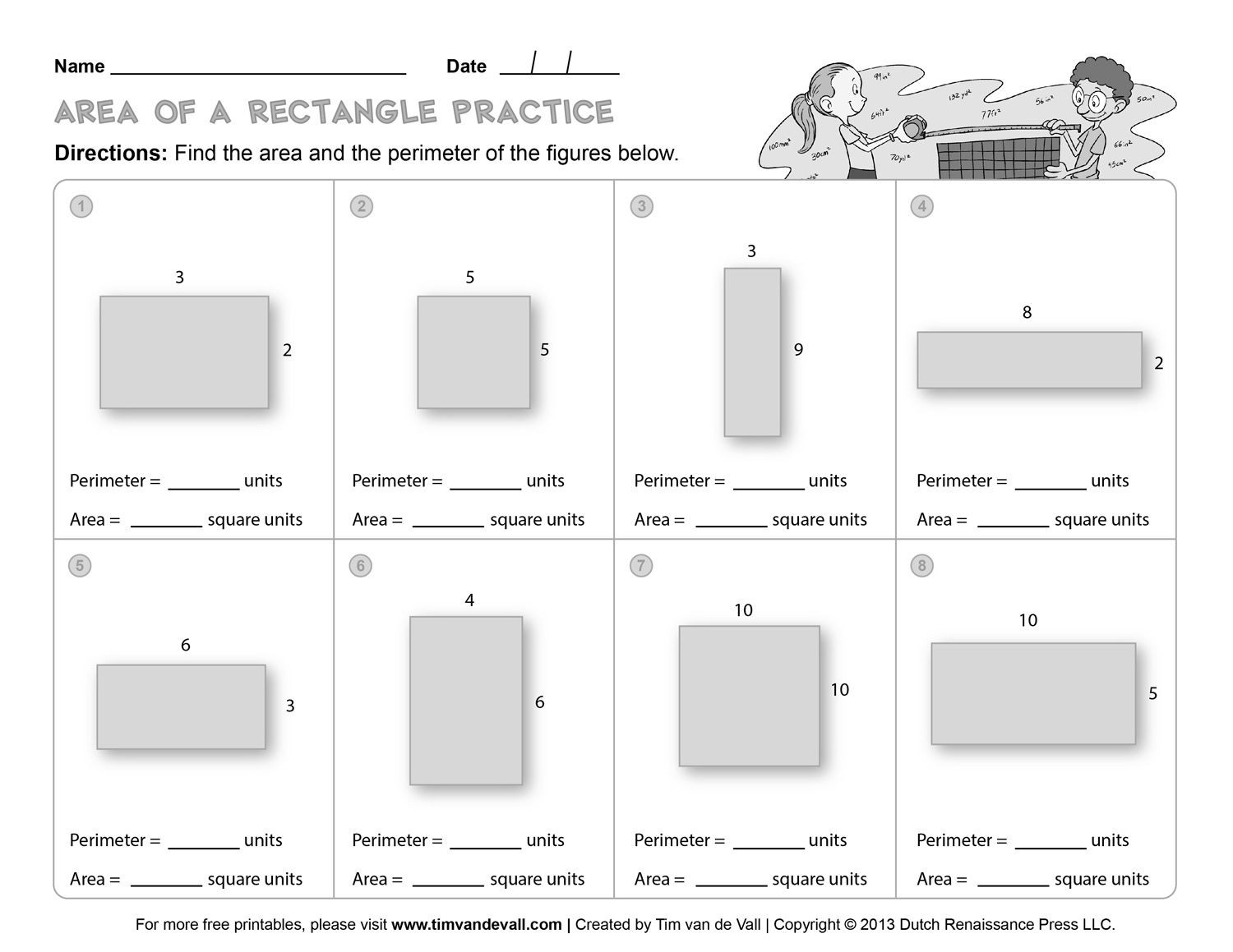 Perimeter Worksheet for 3rd Grade 3rd Grade Perimeter and area Worksheets Free Library Ks2