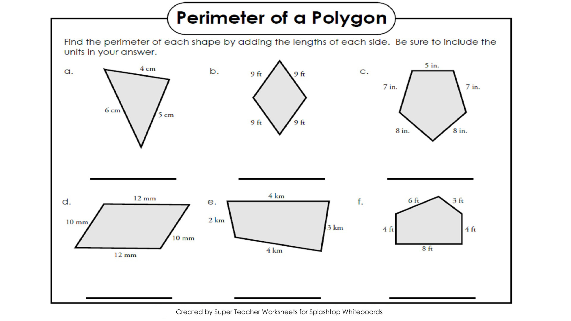 Perimeter Worksheet for 3rd Grade Free Perimeter Worksheets