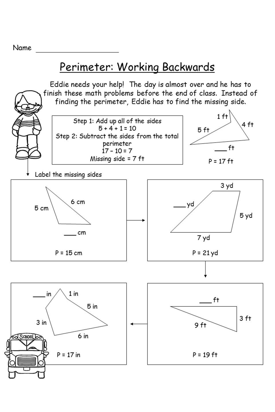 Perimeter Worksheet for 3rd Grade Perimeter Unit Activities Game Project and assessment In
