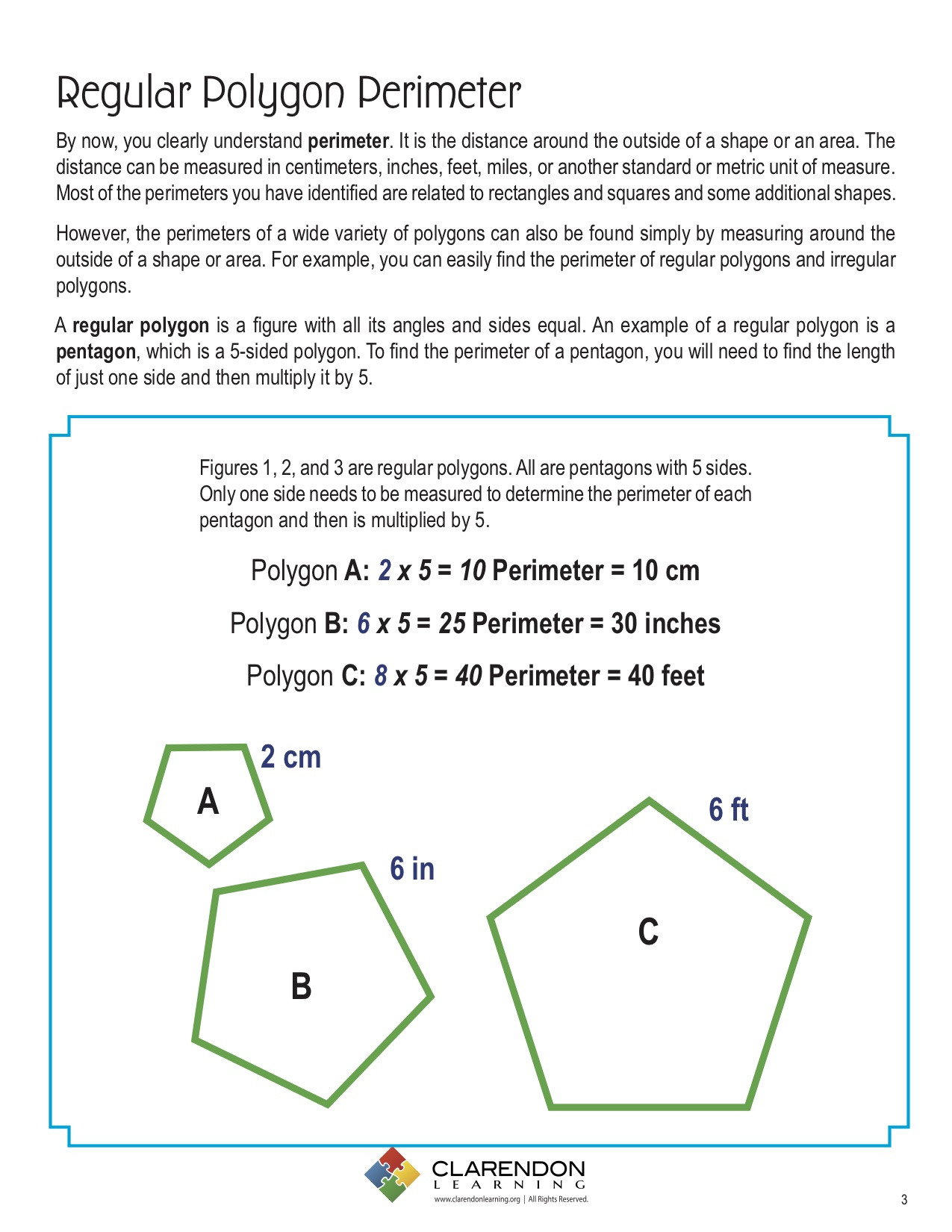 Perimeter Worksheet for 3rd Grade Perimeters Of Polygons Lesson Plan