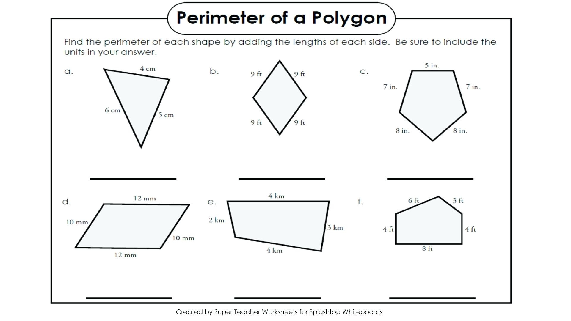 Perimeter Worksheets 3rd Grade area Rectilinear Figures Worksheets