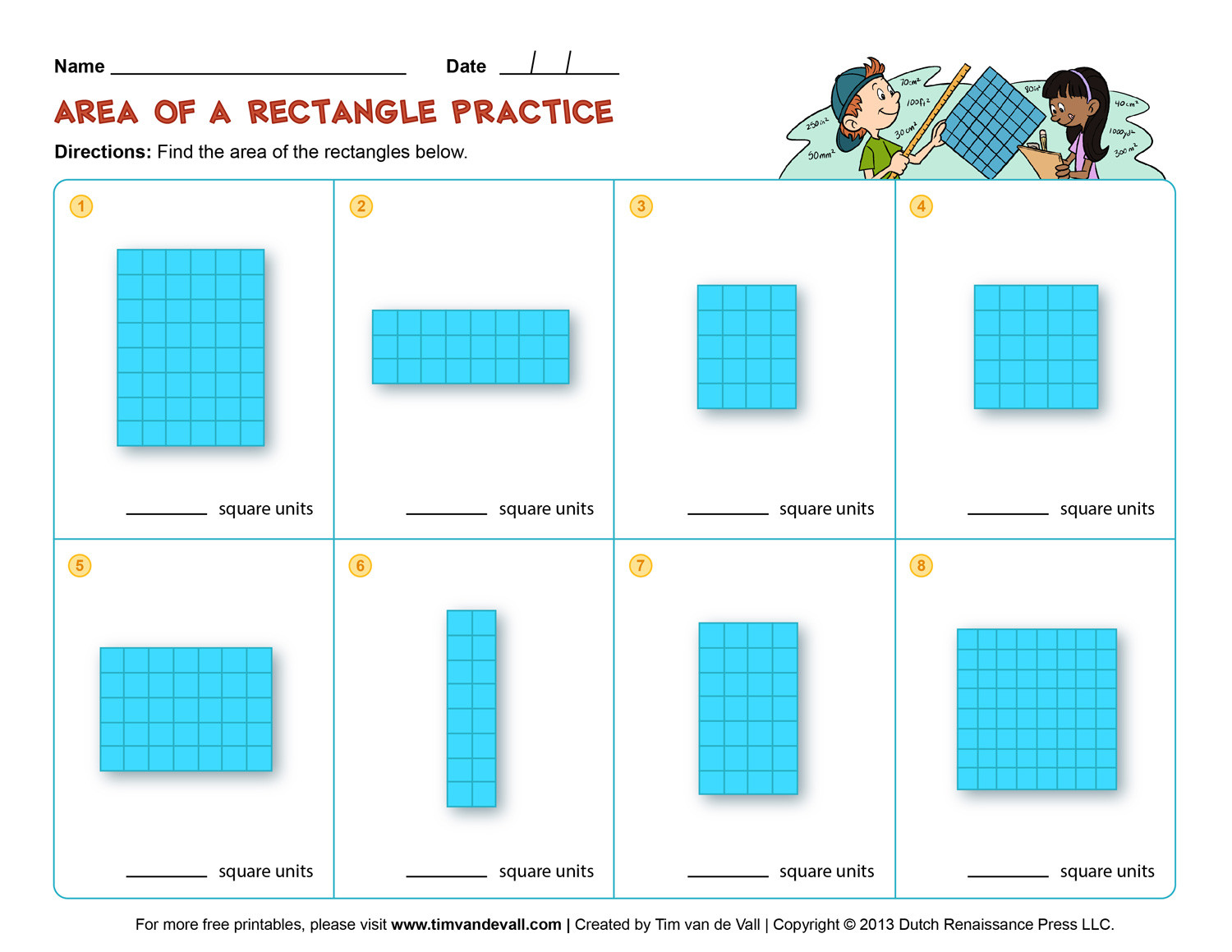 Perimeter Worksheets 3rd Grade Free Printable area and Perimeter Worksheets