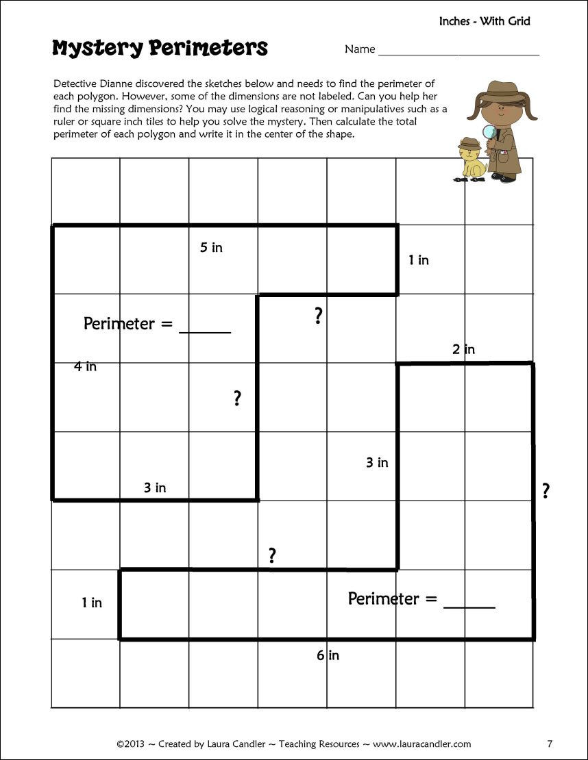 Perimeter Worksheets for 3rd Grade Perimeter Activity Freebie with Images