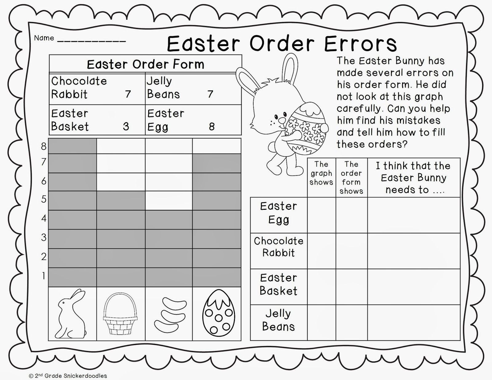 Plot Worksheets 2nd Grade Graphing Freebies