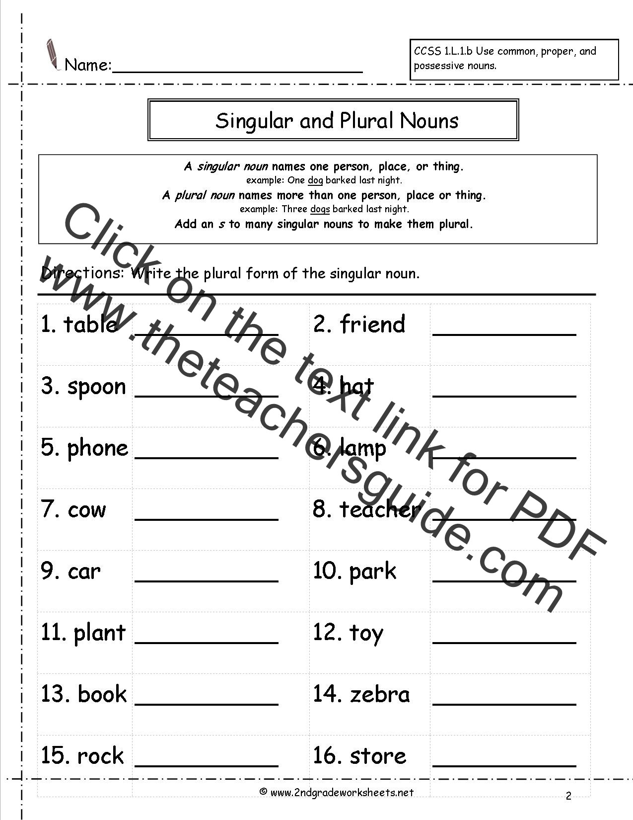 Plurals Worksheet 3rd Grade Singular and Plural Nouns Worksheets