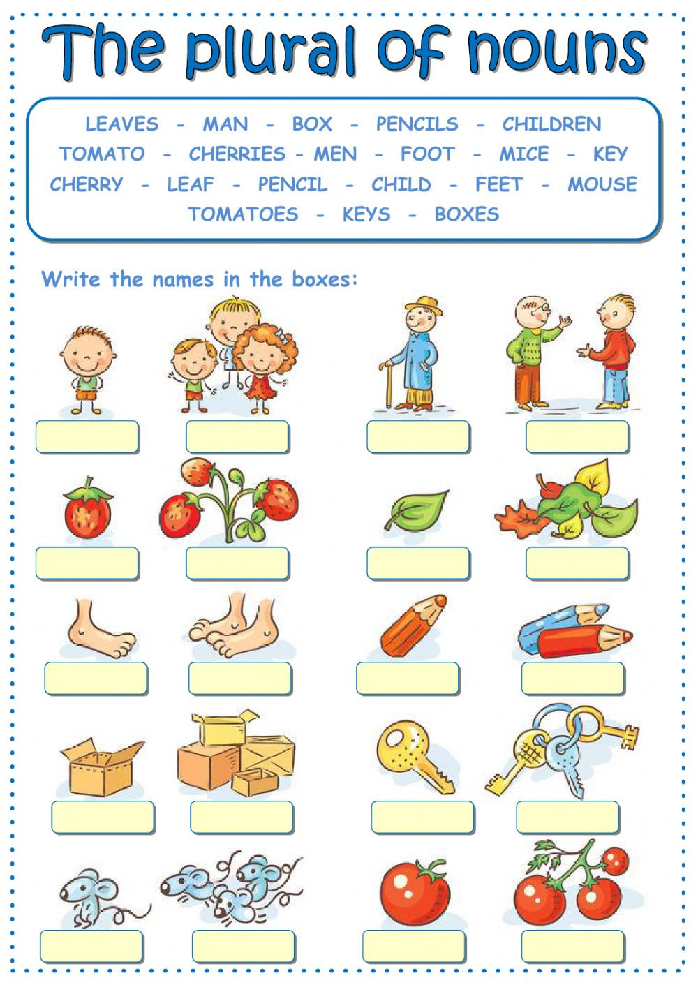 Plurals Worksheet 3rd Grade the Plural Of Nouns Interactive Worksheet