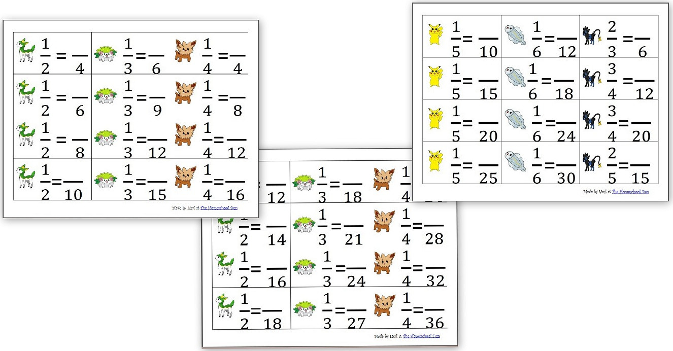 Pokemon Math Worksheets Printable Multiplication Practice Sheets 3s Through 6s Pokemon theme