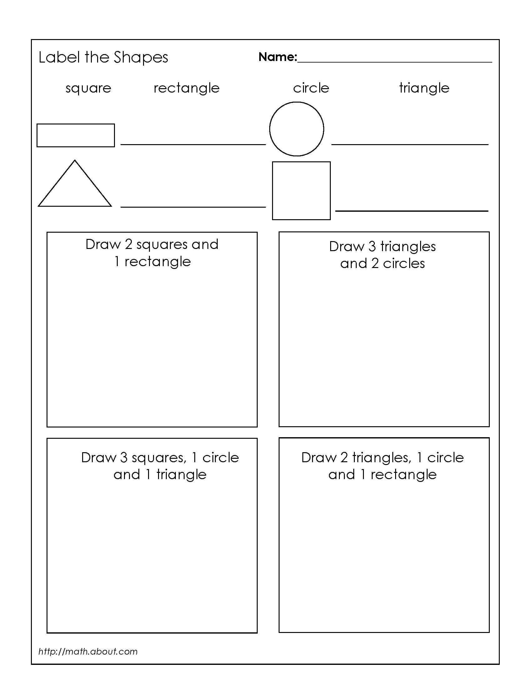 Polygon Worksheets 2nd Grade Grade 1 Geometry Worksheets First Grade Math Geometry