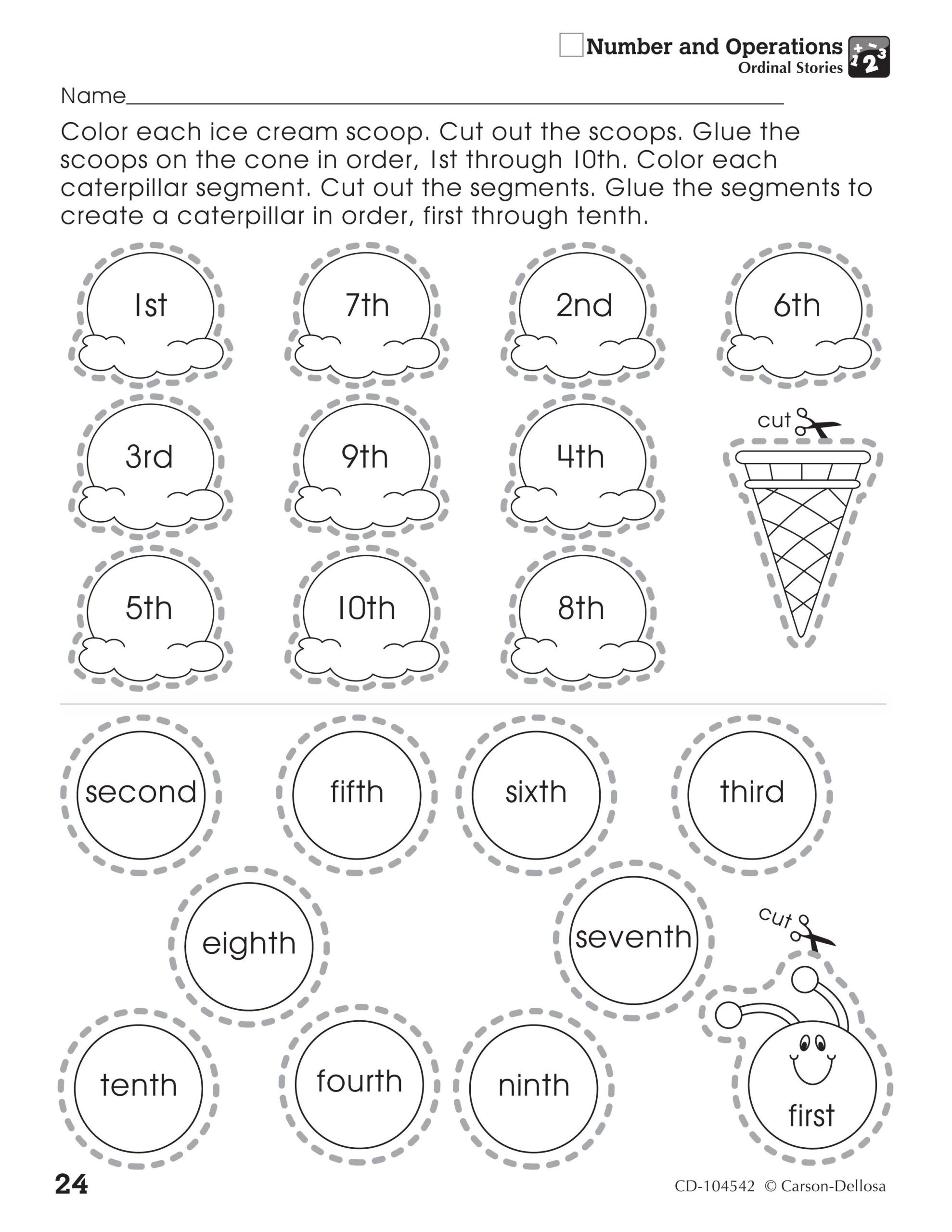 Polygon Worksheets 2nd Grade the ordinal Stories Activity Sheet Helps assist Number and