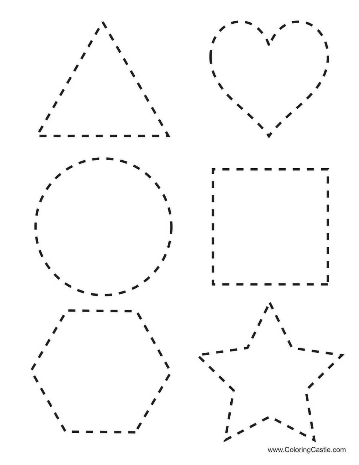 Polygon Worksheets 3rd Grade Shape Tracing Worksheets for Learning Free Analytic Geometry