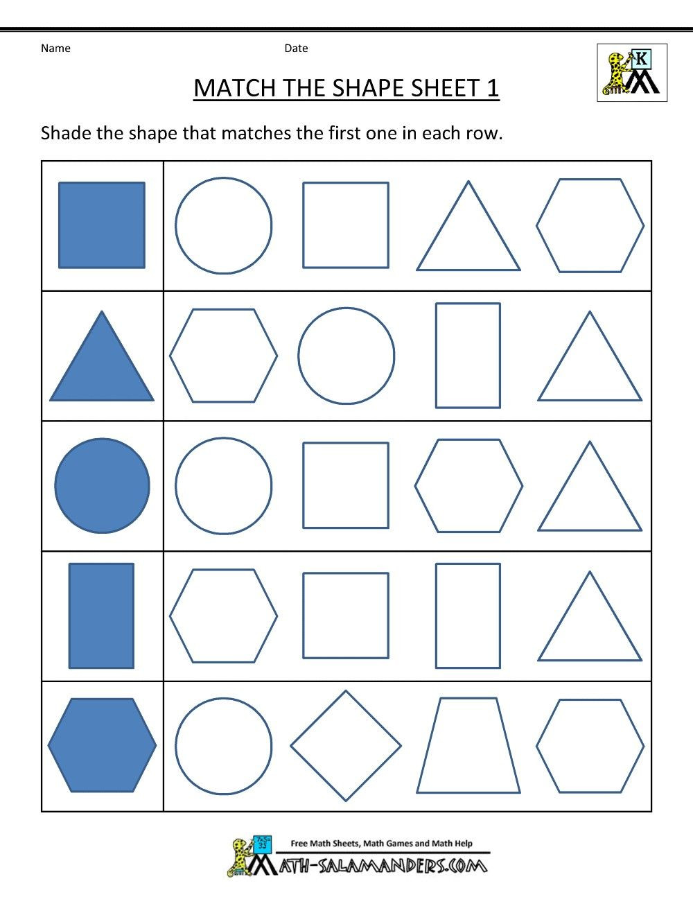 Polygon Worksheets 5th Grade 3 Worksheet 4 Matching Shapes 3d 2d Geometry 2d Shapes